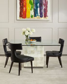 Anvil-Back Leather Dinning Chair