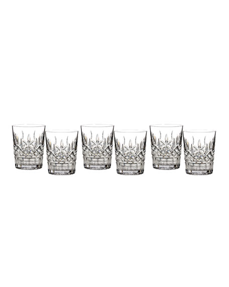 Waterford Crystal Lismore Double Old-Fashioneds, Set of 6