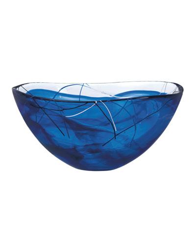 Contrast Large Bowl, Blue