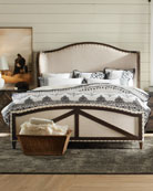 Hooker Furniture Analy Upholstered Queen Bed