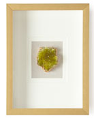 Jamie Young Natural Crystal in Golden Frame, Green