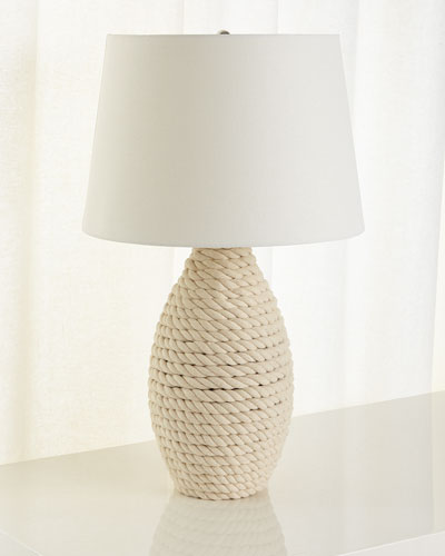 Rope Table Lamp, Cream