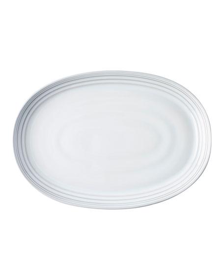"Juliska Bilbao White Truffle Platter, 17"""