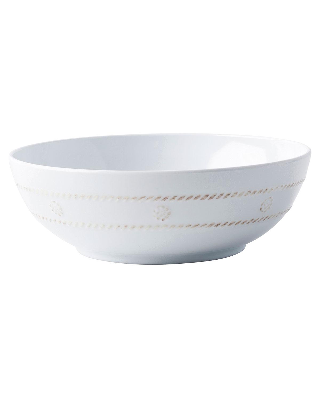 Juliska Dinnerwares BERRY & THREAD MELAMINE WHITEWASH COUPE BOWL