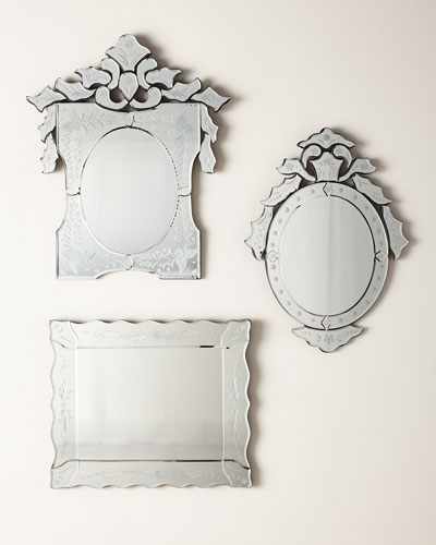 Ornate Shaped Venetian Mirror