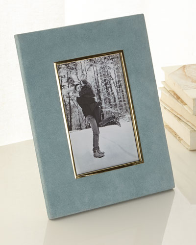 Azure Valentina Suede Picture Frame, 4