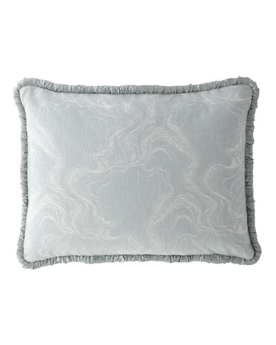 Quartzite Standard Sham with Silk Piping
