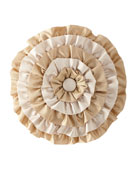 Valencia Ruffled Round Pillow