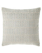 "Lyssa Greek Key Pillow, 18""Sq."