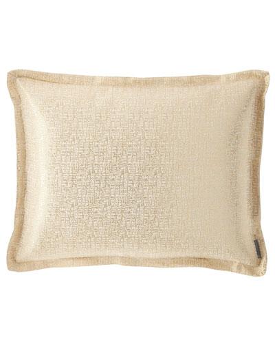 Eva Standard Linen Lurex Pillow, Ivory