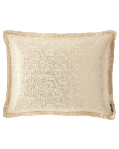 Eva King Linen Lurex Pillow, Ivory