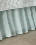Savannah Linen Chambray Twin Dust Skirt