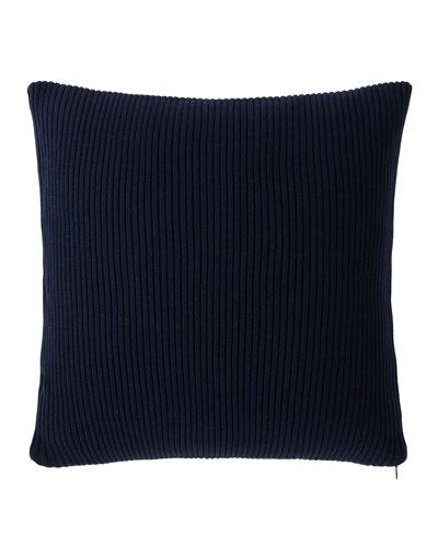 Flora Rib-Knit Decorative Pillow, 18