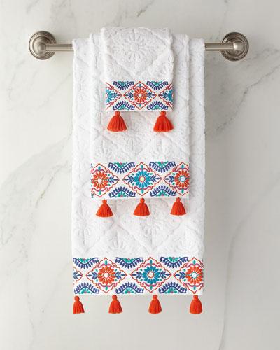 Aloka Coral Hand Towel