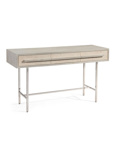 Brahm Stainless & Oak Console Table