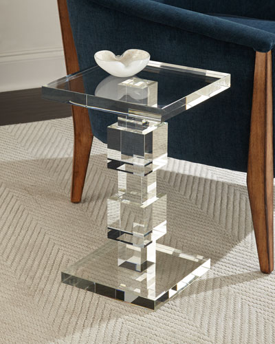 Duchess Crystal Cube Side Table