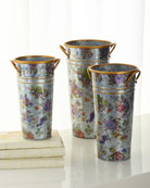 Flower Market Flower Buckets, Set of 3
