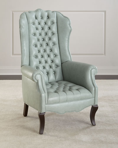 Ariel Leather Tufted Accent Chair