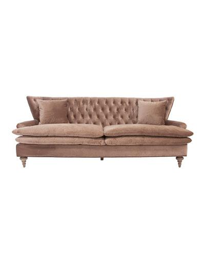 Chevy Velvet Tufted Sofa