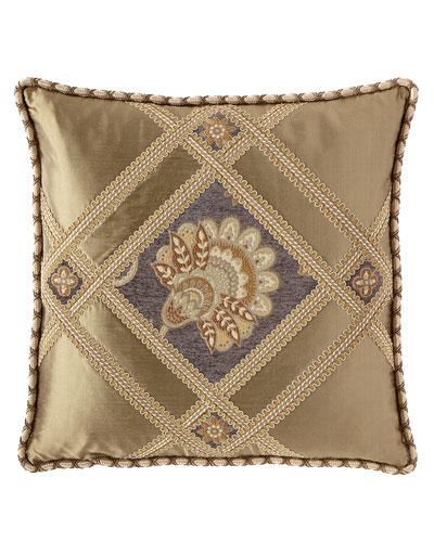 Golden Garden Pierced Boutique Pillow