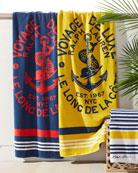 Kacie Beach Towel with Crest