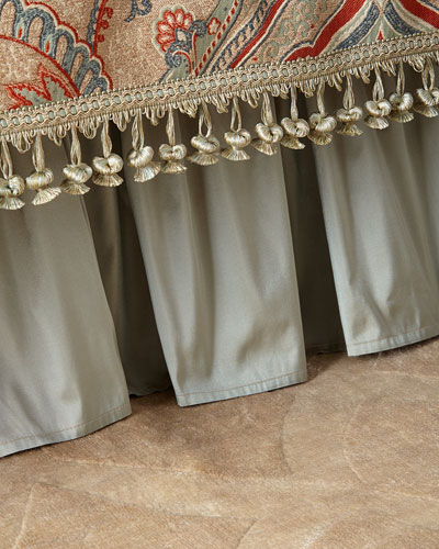 Kristi Gathered Silk Adjustable Dust Skirt