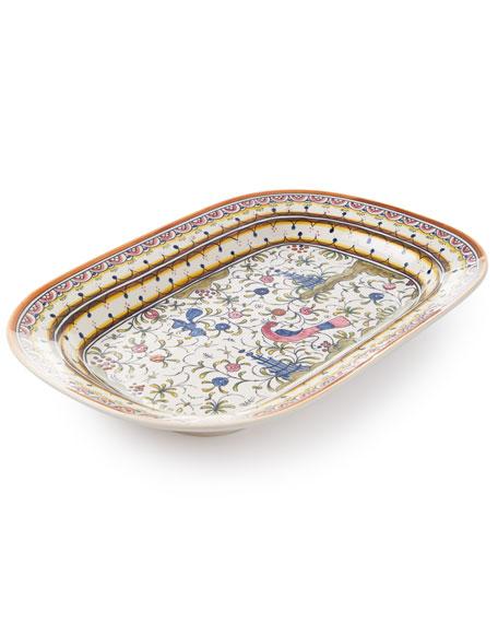 Neiman Marcus Pavoes Rectangular Platter