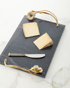 Michael Aram Anemone Large Cheese Board with Knife