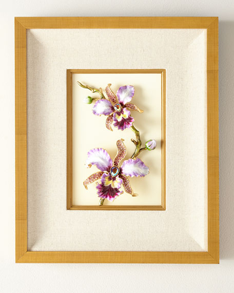 Jay Strongwater Orchid Wall Art