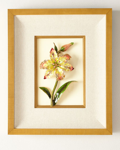 Jay Strongwater Swarovski&#174 Crystals Lily Wall Art