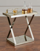 Clarendon X-Frame Side Table