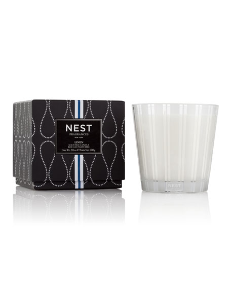 Nest Fragrances 21.1 oz. Linen 3-Wick Scented Candle