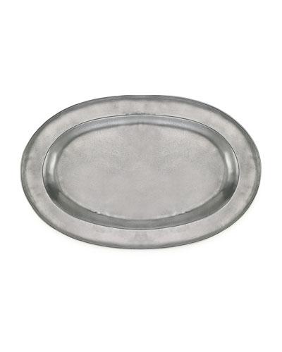 Large Antiqued Oval Platter