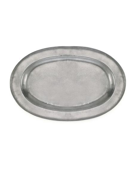 Match Large Antiqued Oval Platter