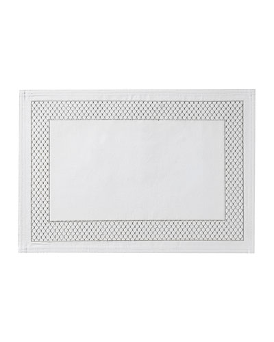 Netta Placemat, White/Silver