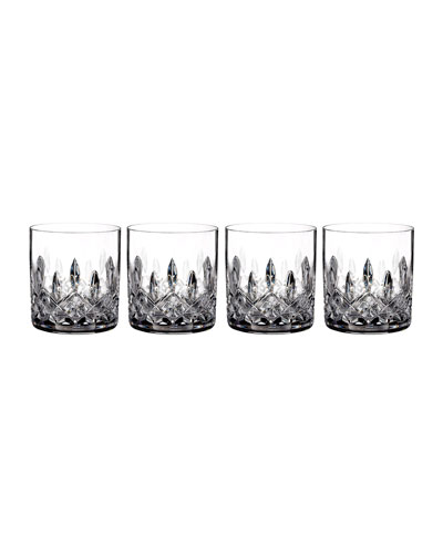 Lismore Straight-Sided Double Old-Fashioned Glasses, Set of 4