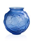 Hirondelles Medium Vase, Sapphire Blue