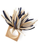 Quill Napkin Ring, Blue Pattern