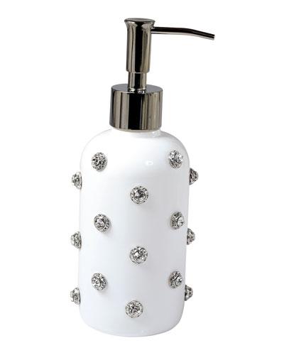 Nova Glass Pump with Stones, White