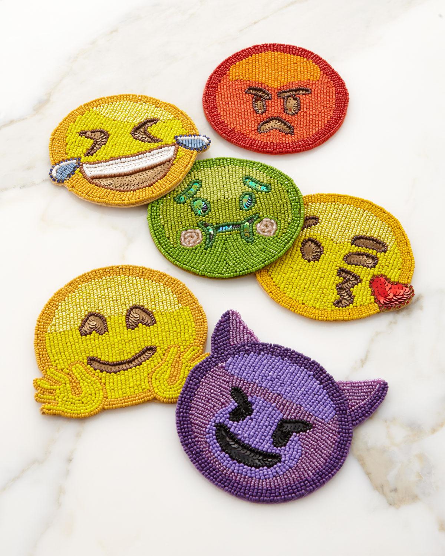 Emoji Coasters 2.0, Set of 6