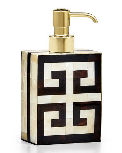 Greek Key Pump Dispenser