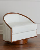 Sawyer Leather Swivel Chair
