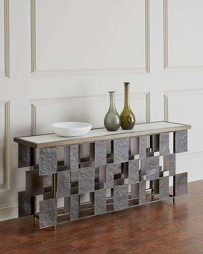 Layered Iron Console Table