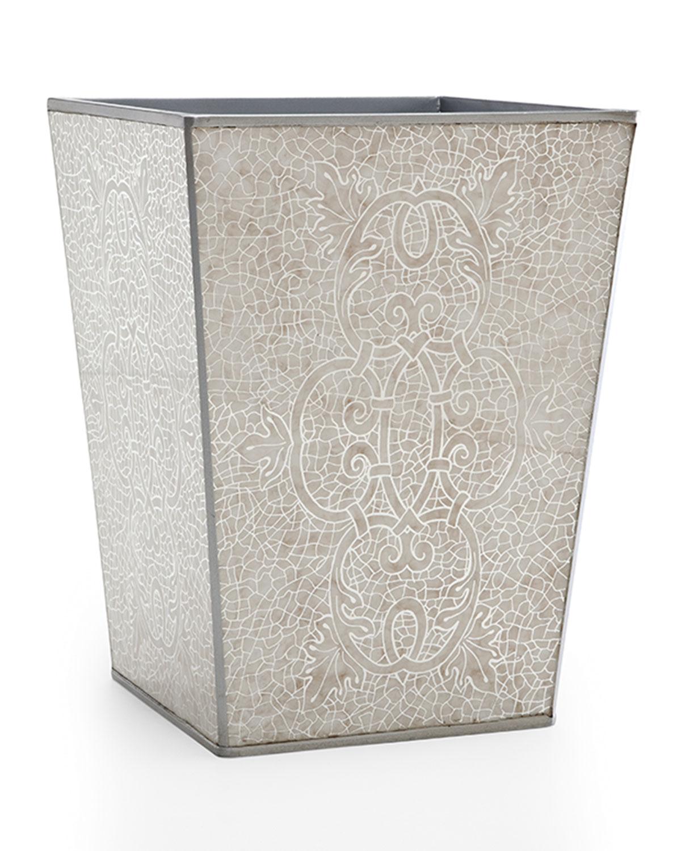 Miraflores Wastebasket, Silver