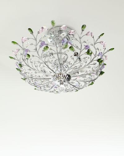 Versicolor Crystal Semi-Flush Mount Light Fixture