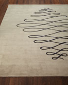 Guilloche Sea and Sand Hand-Knotted Rug, 8' x 10'