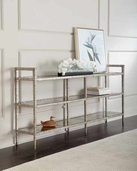 John-Richard Collection Lunar 3-Tiered Mirrored Console