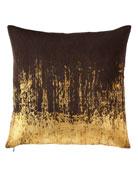Distressed Metallic Pillow