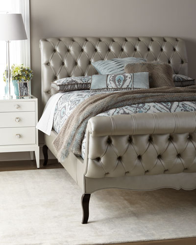 Duncan Fife Leather Queen Bed