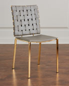 Kennedy Woven Leather Dining Chair